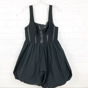Topshop Dresses - Topshop Black Corset Balloon LBD Dress Size 8